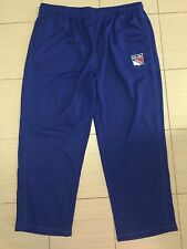 MENS AUTHENTIC NHL NEW YORK RANGERS PANTS SWEATPANTS ICE HOCKEY 2XL Blue