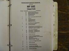 Massey Ferguson 50e Farm Tractor Workshop Shop Service Repair Manual