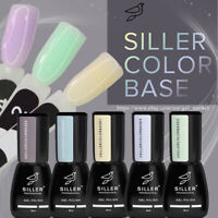 SILLER Cover COLOR BASE Gel Nail Polish Ease of Application - 5 Pastel Colors