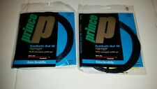 Prince Synthetic Gut 16 gauge Duraflex String Tennis Black  x 2