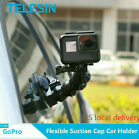 TELESIN Car Suction Cup Mount Tripod For GoPro Max Hero 9 DJI Osmo Action Camera