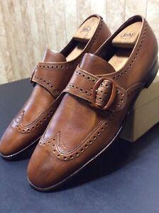 Vintage Florsheim Men's Shoes NOS 31175 Monaco Gold Wingtip Buckle 12C
