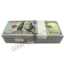 New $100 Bills Play Money, 100 Pcs USA Bundle Prop Money Actual Size Magic props