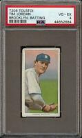 Rare 1909-11 T206 Tim Jordan Batting Tolstoi Back Brooklyn PSA 4 VG - EX Low Pop