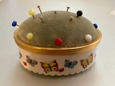 Bilston & Battersea Halcyon Days Pin Cushion Enamel Box Vintage