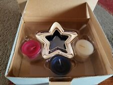 Party Lite Heritage Tealight Gift Set - #P9561 W/ Star Frame/4th of July NIB
