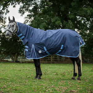 Derby House Classic Medium Combo Horse Rug Turnout - Navy Placid Blue All Sizes