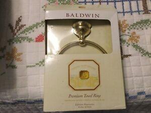 Baldwin Premium Towel Ring Laguna Polished Brass 3544-030