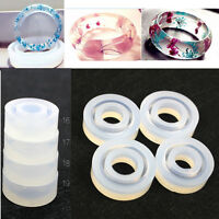 Clear Silicone HandCraft Resin Ring Mold Casting Jewelry Rings DIY Moulds Tools