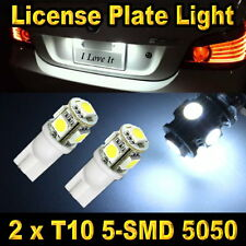 T10 5-SMD 5050 White License Plate Tag Light Bulbs 168 194 906 912 921 2825 2827