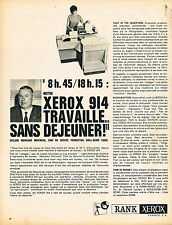 PUBLICITE ADVERTISING 1966 RANK XEROX MR  MONTREUIL chef chez SHELL BERRE PARIS