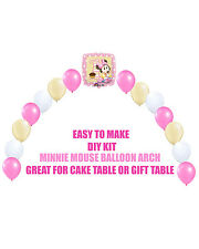 Baby Minnie Mouse 1st Birthday Balloons, Minnie Party Decor Cake Table