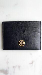 Tory Burch NWT ROBINSON CARD CASE in Black