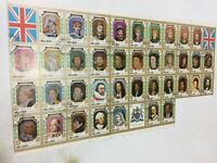 UMM AL QIWAIN 1971 King & Queens of England 38 Stamp Sheet C.T.O
