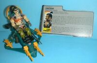 Lot 1987 GI Joe Cobra Figure Zanzibar Dreadnok Pirate & Air Skiff w/ File Card