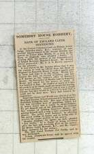 1925 Somerset House Robbery, By Victor Worth, Bankers Battalion, Gambler