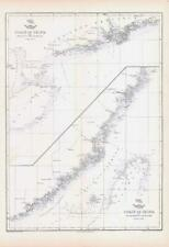 More details for 1863 antique map coast of china hainan hie-che-chin sun moon bay weller (da191)