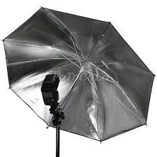 "33"" 83cm studio flash reflector umbrella black silver"