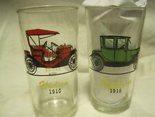 VTG LOT OF 3 Hazel Atlas Antique Cars HUDSON/STUDEBAKER 1950'S PROMO GLASSES