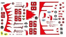 #98 Bill Vukovich Agajanian Special 1/25th - 1/24th Scale Waterslide Decals