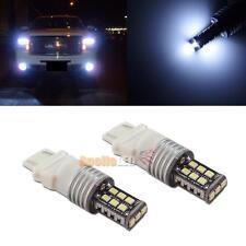 2pcs Error Free White 3156 3157 4157 15-SMD LED Bulbs for Daytime Running Light