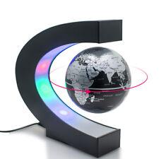 LED C Shape World Map Night Light Decoration Magnetic Levitation Floating Globe