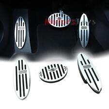 3PCS/SET Black Checkered Auto Aluminum Pedal Gas Brake Footrest for Mini Cooper