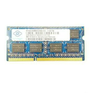 Nanya 4GB PC3-10600 DDR3-1333MHz 204-Pin SoDimm Laptop Memory RAM NT4GC64B8HG0NS