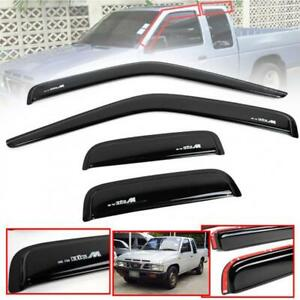 Wind Deflector Weather Guard Visor Black For Nissan Frontier D21 Pickup 1989-97