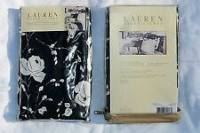 2 RALPH LAUREN PORT PALACE STANDARD PILLOW CASE SHAMS BLACK AND WHITE FLORAL NEW