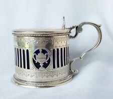 Antique Victorian sterling silver mustard pot hallmarked HH, London