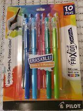 Pilot Frixion Ball Color Sticks Erasable Gel Pens Fine Pt 07mm Asst 10 Pack