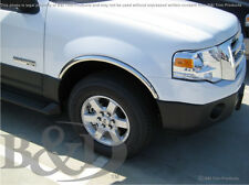 CHROME FENDER TRIMS FITS FORD EXPEDTION 2007-2017 (WITH-OUT FENDER FLARES)
