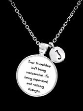 Best Friend Necklace True Friendship Long Distance Initial Sister Gift Jewelry