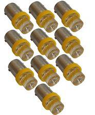 10x ampoule T4W 12V LED jaune veilleuses éclairage intérieur seuils plafonnier