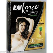 Manforce StayLong Pineapple Flavoured Extra Dotted Premium Condoms 3 pcs Pack