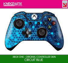 KNR6626 PREMIUM XBOX ONE CONTROLLER SKIN CIRCUIT BLUE ELECTRIC