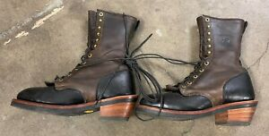 Lightly Used Chippewa USA Packer Roper Boots Size 7.5 D 29409