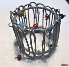 Napkin Rings Set of 12 Wire and beads FoxHome