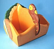 Midwest of Cannon Falls Thanksgiving Turkey Napkin Condiments Candy Holder