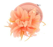 Peach and pink fascinator cap with headband, Ascot races, ladies day,prom