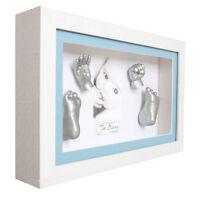 Silber Farbe 3D Gips Baby Handprint & Footprint Mold Casting Drucke Kit