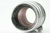 【EXC+4】Canon 50mm f/1.8 Leica Screw Mount LTM L39 Chrome Silver from Japan #136