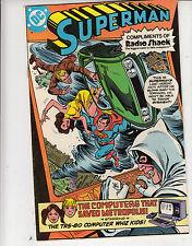 "SUPERMAN DC COMICS JULY 1,1980 ""THE COMPUTERS THAT SAVED METROPOLIS RADIO SHACK"