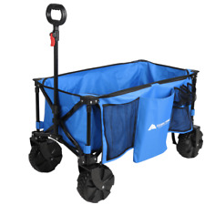 Wagon Folding Cart Oversized Wheels All Terrain Camping Beach Outdoor Tailgate