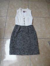 JUICY COUTURE jolie robe bi matière ( 67% laine / 55% soie )  taille 4 = 33 cm