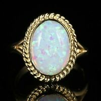 OPAL GOLD RING 9CT GOLD 6CT OPAL