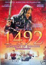 1492 CONQUEST OF PARADISE [DVD R0] Ridley Scott, G.Depardieu, Sigourney Weaver