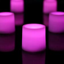 12 LED Bougie fonctionne à piles humeur lumières - Constant flamme rose par