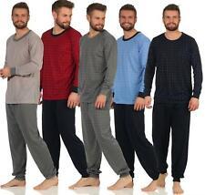 Herren Pyjama Schlafanzug Schlafhose und T-shirt langarm M L XL 2XL